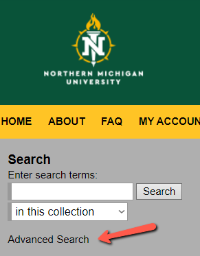 The Commons Advanced Search button