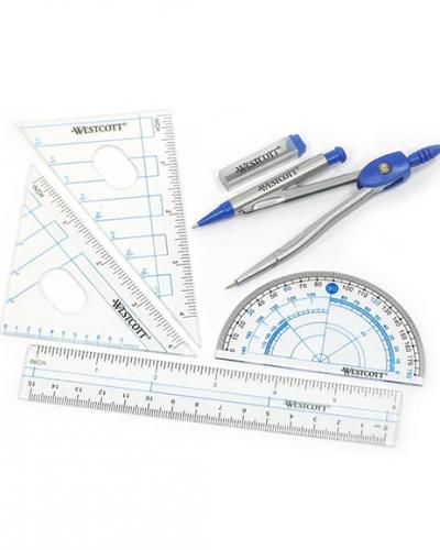A photo of geometry tools