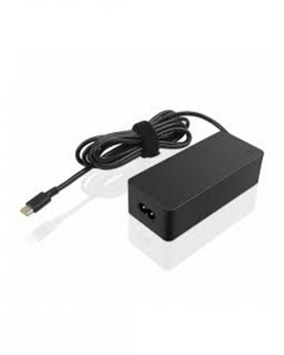 A photo of a power cord and AC adapter