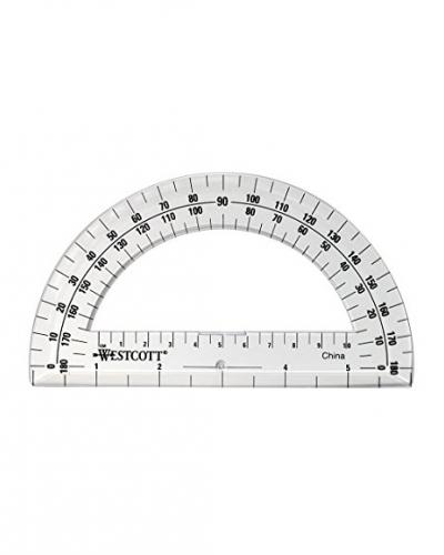 A photo of a protractor