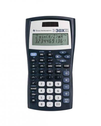 A photo of a Texas Instrument TI-30X IIS calculator