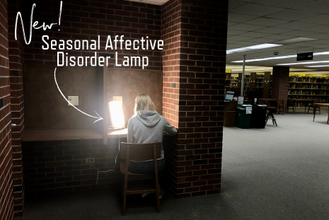 The newest S.A.D. Lamp here at the library!