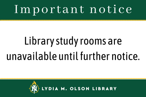 Important Notice: library study rooms are unavailable until further notice.
